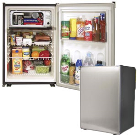 Refrigerator 120AC//12DC//24DC, with Fan and Black Door ft Norcold DE0788B 3.1 cu